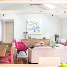 Contemporary Living Room by Justine Sterling Design