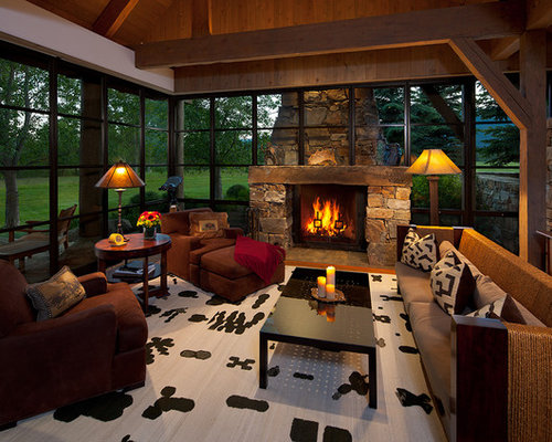 Best Sunrooms With Fireplaces Design Ideas Remodel