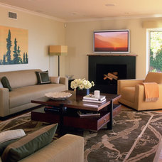 Contemporary Living Room by Kathryn Waltzer