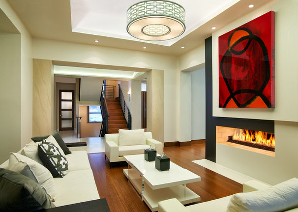 Contemporary Living Room by KGA Studio Architects