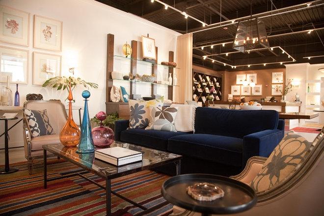 Contemporary Living Room by Kristi Will Home + Design