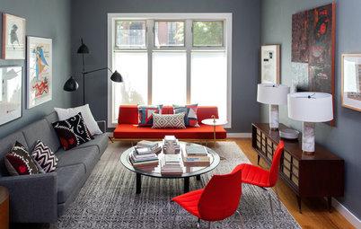 À quelles couleurs associer le gris dans un salon ?