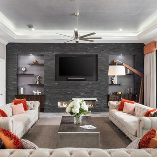 Captivating Inspiration For A Contemporary Living Room Remodel In Orlando