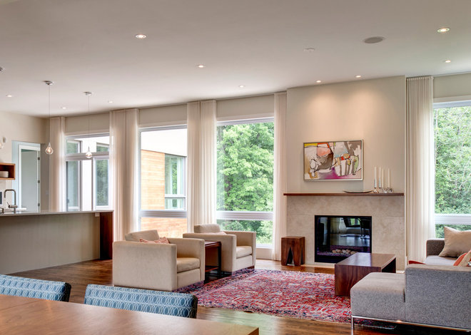 Contemporary Living Room by Maple Leaf Custom Homes