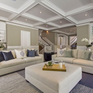Living room - contemporary living room idea in Los Angeles with beige walls