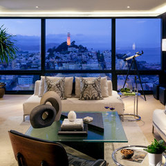 contemporary living room by Muratore Design + Construction