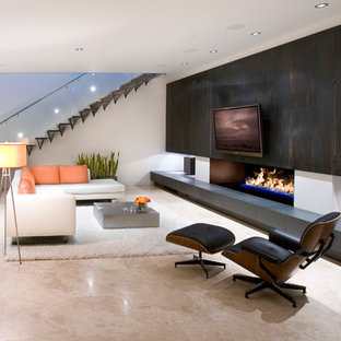 Linear Fireplace Houzz