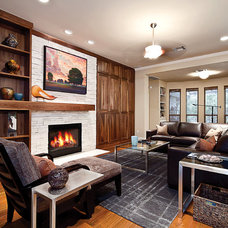 Contemporary Living Room by National Association of the Remodeling Industry
