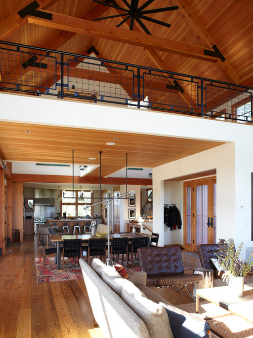 Loft open floor plan houzz for Open concept loft