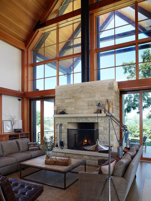 Best Fireplace Window Design Ideas Amp Remodel Pictures Houzz