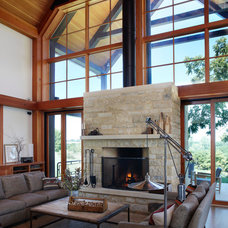 Farmhouse Living Room Contemporary Living Room