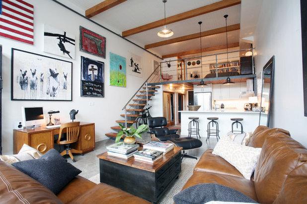 Trendy Dagligstue Contemporary Living Room