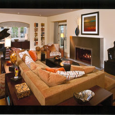 Contemporary Living Room by Pat Manning-Hanson, ASID