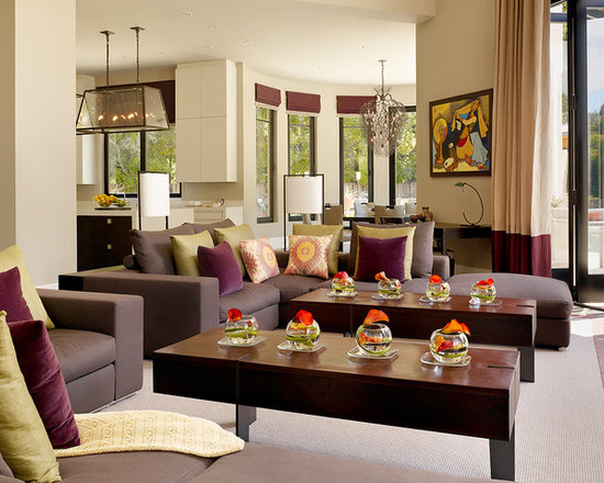 Living Room Decor Brown purple and brown living room decor - thesouvlakihouse