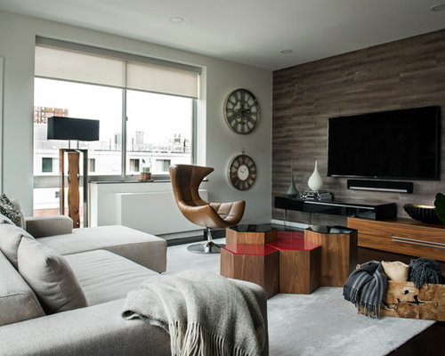 Living Room with Gray Walls Ideas Design Photos Houzz