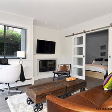 Contemporary Living Room by Real Sliding Hardware