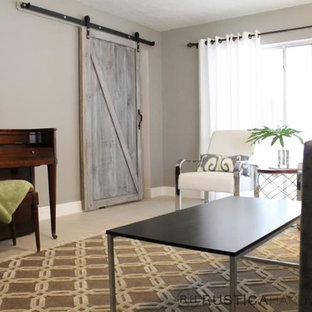 Trendy living room photo in Salt Lake City