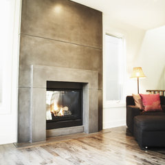 contemporary fireplaces by Sculptural Design Inc.