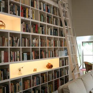 Idee per un soggiorno design con libreria
