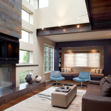 Contemporary Living Room by SoYoung Mack Design, Assoc. AIA