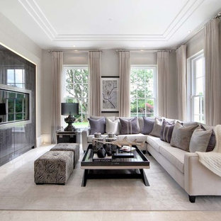 Grey Cream Living Room Ideas And Photos Houzz