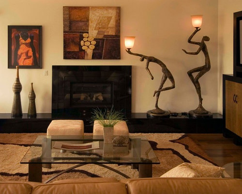 African american art home design ideas pictures remodel for What size tv do i need for a 12x15 room