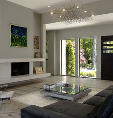 contemporary living room by Visbeen Associates, Inc.