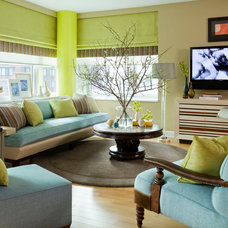 Contemporary Living Room by Willey Design LLC
