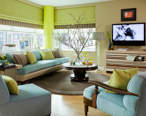 Turquoise And Lime Green Living Room Houzz