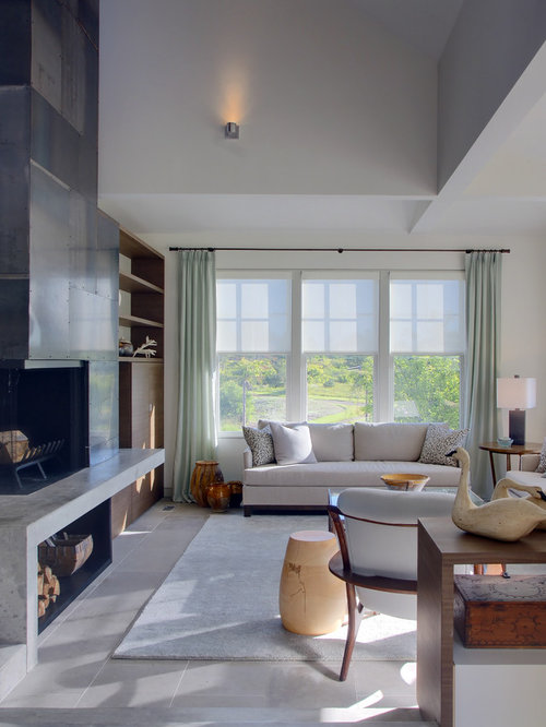 extraordinary houzz contemporary living room | Grey Limestone Tile Design Ideas & Remodel Pictures | Houzz