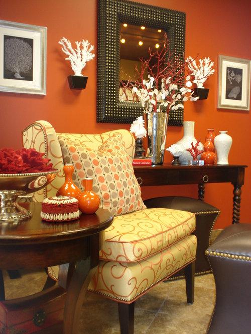 saveemail - Burnt Orange And Brown Living Room