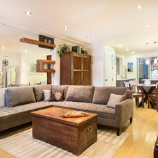 Eclectic Living Room by Marcell Puzsar - BrightRoomSF Photography