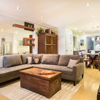 Earthy Modern Eclectic Living Room Houston By High