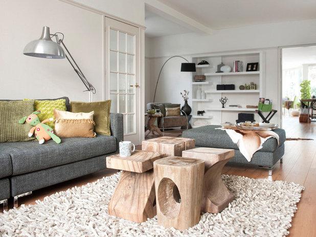 Sgabelli in legno che reinventano le stanze