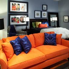 Contemporary Living Room by Kimberly Rennerfeldt Interior Design LLC