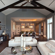 Contemporary Living Room by Weber Design Group, Inc.