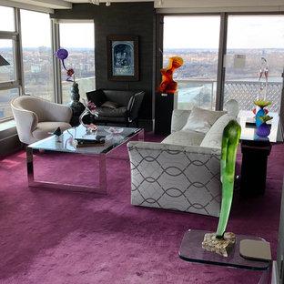 Contemporary Penthouse Condo - Living Room - Open Space Plan