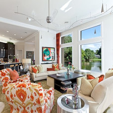 Contemporary Living Room by Interiors By Agostino's