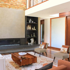Contemporary Living Room by J G Plastering, Inc.