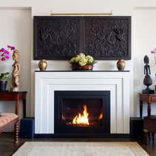 Contemporary Living Room by Hearth Cabinet