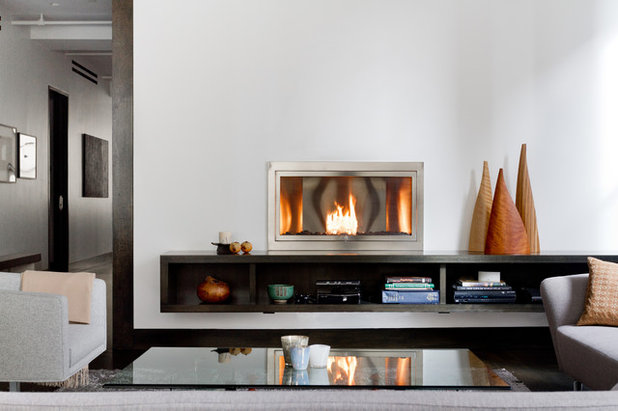 Contemporary Living Room by HearthCabinet Ventless Fireplaces