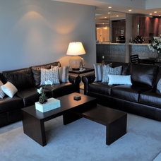 Contemporary Living Room by Lauren Racowsky