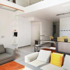 Contemporary Living Room by Hunt Laudi Studio