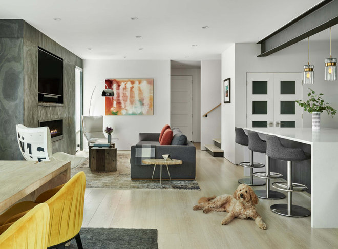 Contemporary Living Room by AXIS Productions