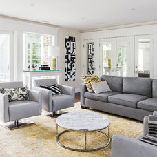 Contemporary Living Room by Burritt Bros. Carpets