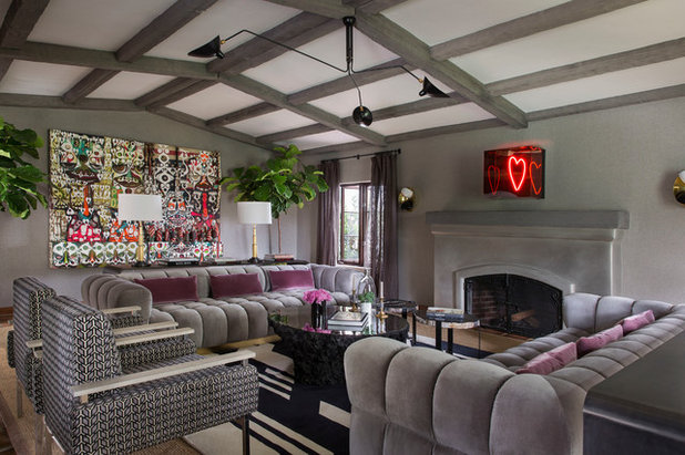 Amazing Eclectic Living Room by Laura Hull Photography