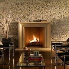 Contemporary Living Room by Eldorado Stone
