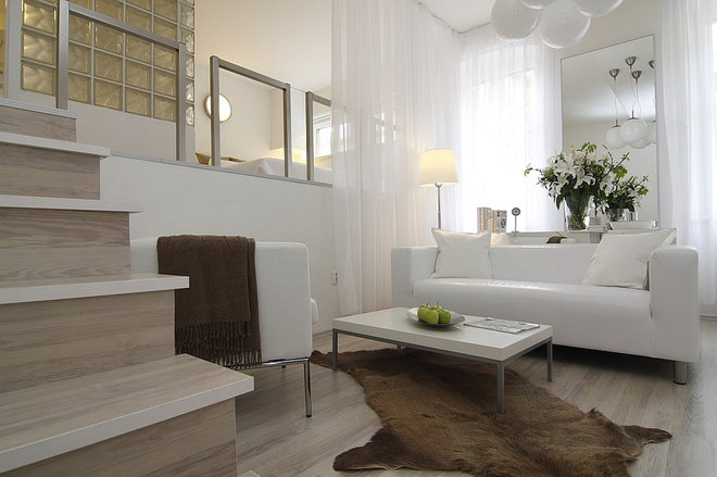 Contemporary Living Room by ZL Design