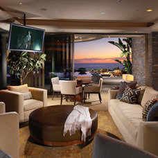 Tropical Living Room by Wendi Young Design