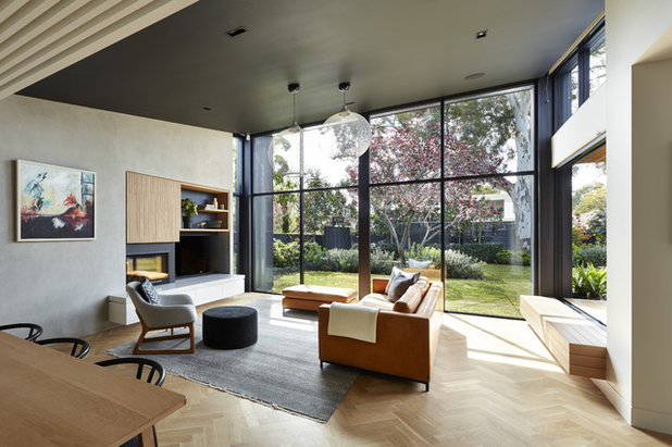 Contemporary Living Room by BTF Constructions